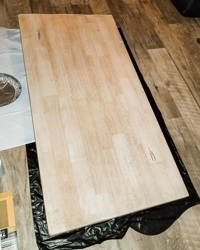 A table leaf repurposed as a desk, finds a new purpose just as we do when we walk with our faithful God and He puts us back together.