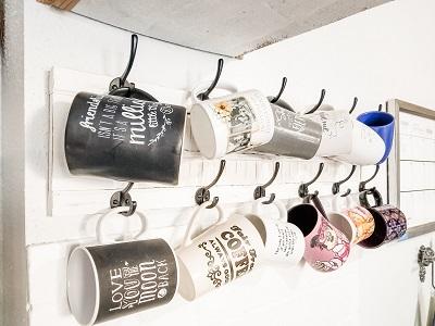 A Shutter For Hanging Coffee Mugs