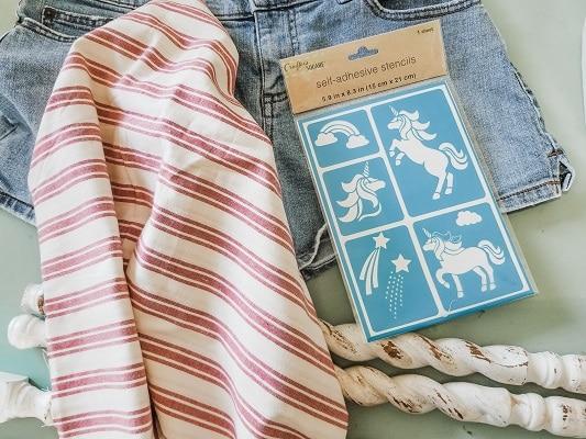 Supplies For DIY Patriotic Farmhouse Flags
