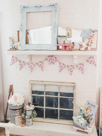 Time To Decorate The Mantel For Spring