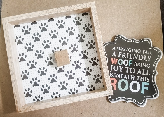 Signs for Red, White and Blueberry Tiered Tray