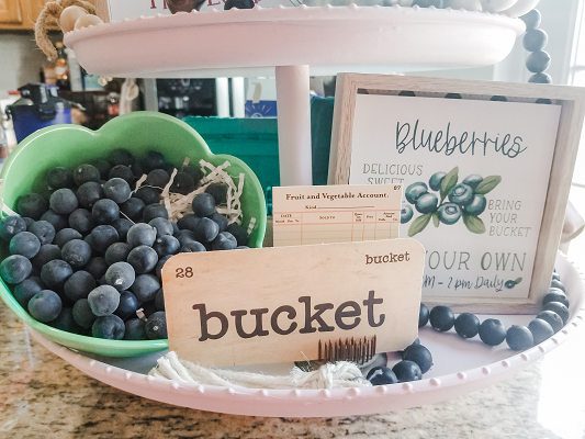 Blueberry Sign from the red, white and blueberry tiered tray