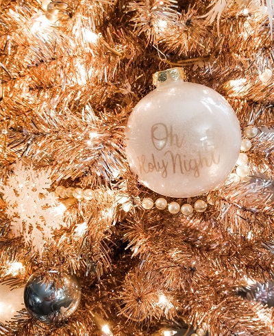 Decorate on a budget for Christmas using jewelry.