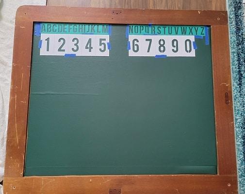 Vintage style Chalkboard DIY Project