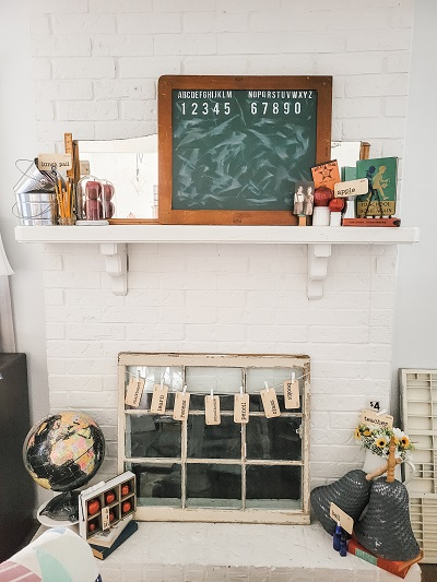 Back to school decorating ideas for your mantel