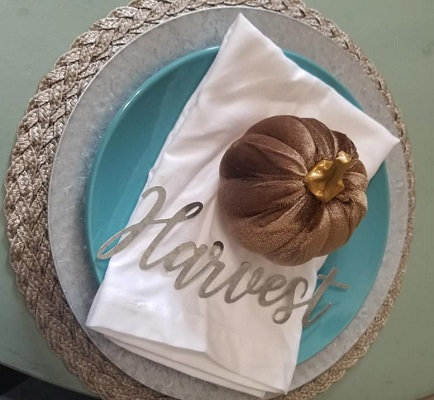 Fall Table Setting Ideas with Dollar Store Products