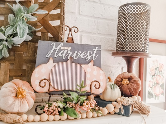 Fall Mantel Decor made with Dollar Tree DIY Projects