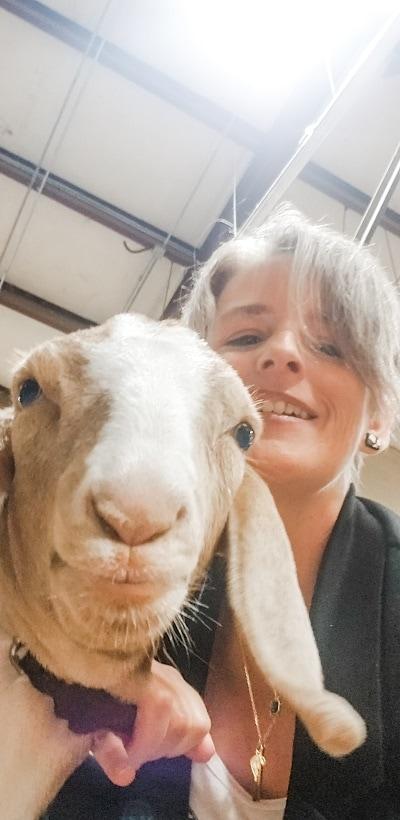 Farmhouse Table celebrating goats