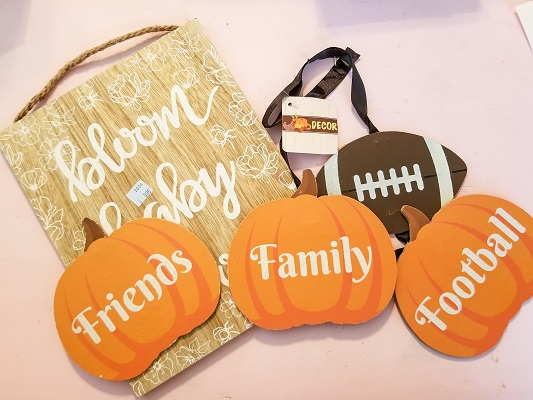 Harvest sign DIY project using supplies from the Dollar Tree