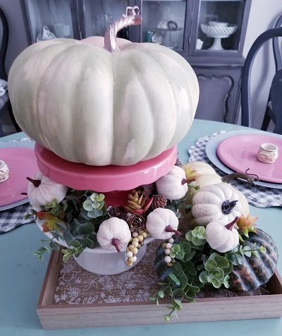 Creating a fall tiered tray - tips and tricks