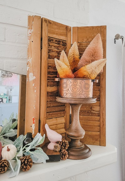 The Fall Mantel You Want In Copper and Blush