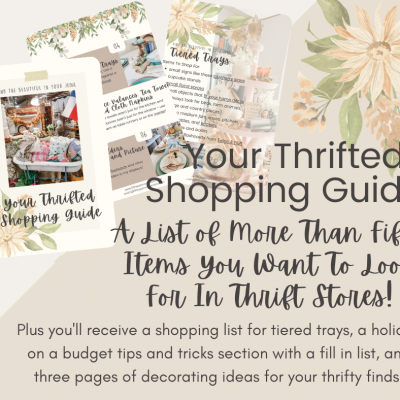 A List of More Than Fifty Items You Want To Look For In Thrift Stores Plus More